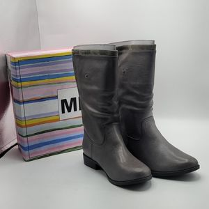 Mia shoes kids boots size 4m crystal grey
